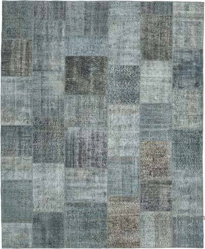 """Hand-knotted Turkish Patchwork Rug - 8'  x 9' 10"""" (96 in. x 118 in.)"""