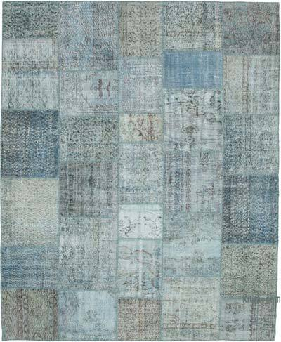 """Hand-knotted Turkish Patchwork Rug - 8' 2"""" x 10'  (98 in. x 120 in.)"""