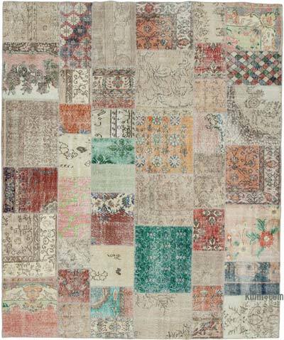 """Hand-knotted Turkish Patchwork Rug - 8' 2"""" x 9' 9"""" (98 in. x 117 in.)"""