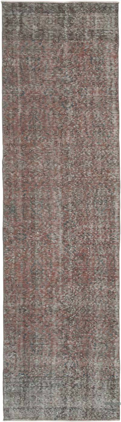 "Over-dyed Turkish Vintage Runner Rug - 2' 10"" x 10'  (34 in. x 120 in.)"