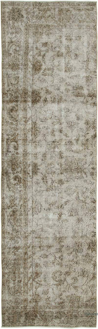 "Over-dyed Turkish Vintage Runner Rug - 2' 10"" x 9' 9"" (34 in. x 117 in.)"