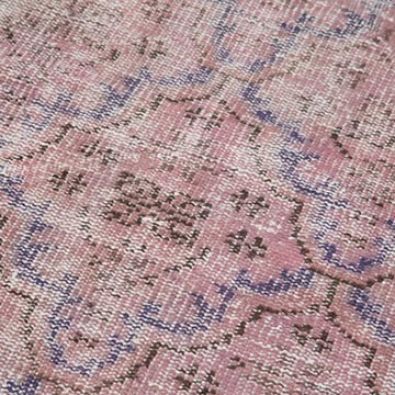"""Pink Over-dyed Turkish Vintage Runner Rug - 2' 9"""" x 8' 6"""" (33 in. x 102 in.) - K0050043"""
