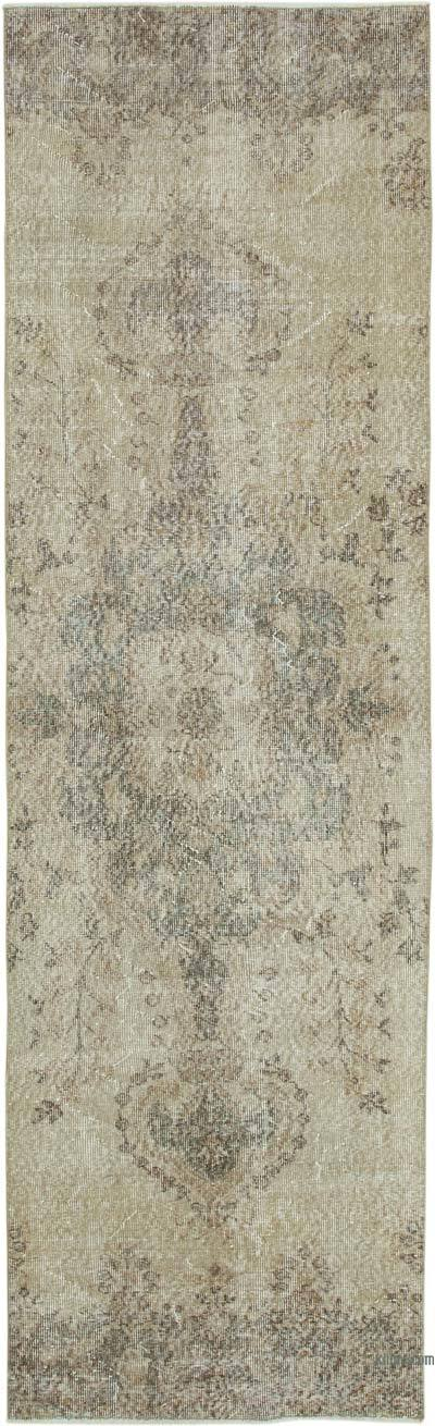 "Over-dyed Turkish Vintage Runner Rug - 2' 7"" x 8' 10"" (31 in. x 106 in.)"