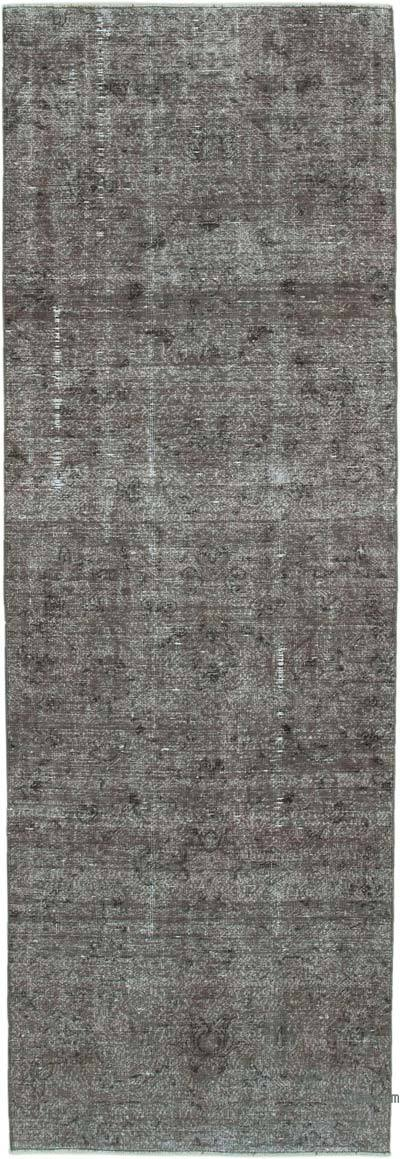 "Grey Over-dyed Turkish Vintage Runner Rug - 2' 9"" x 8' 3"" (33 in. x 99 in.)"