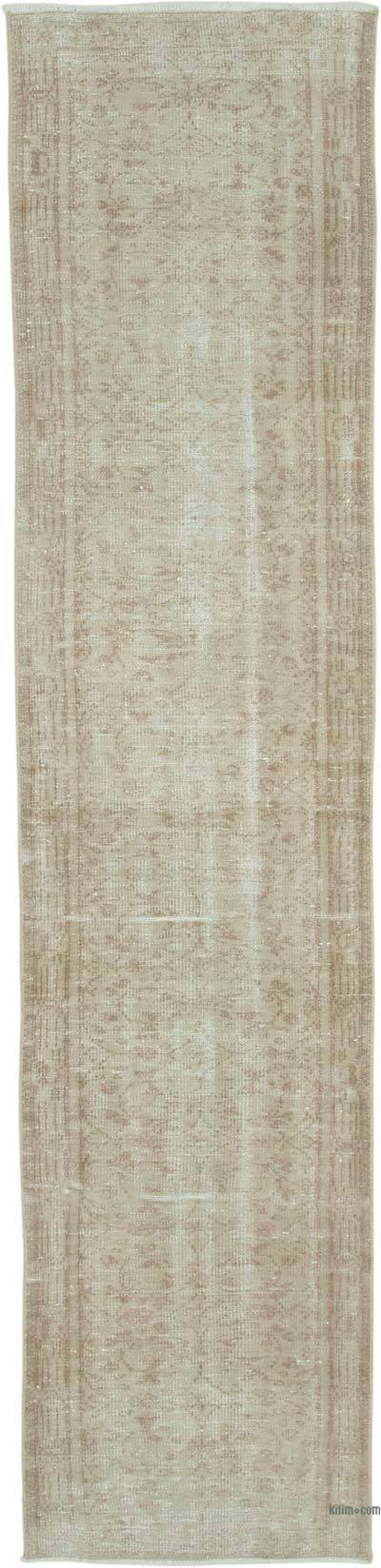 """Over-dyed Turkish Vintage Runner Rug - 2' 6"""" x 10' 7"""" (30 in. x 127 in.)"""