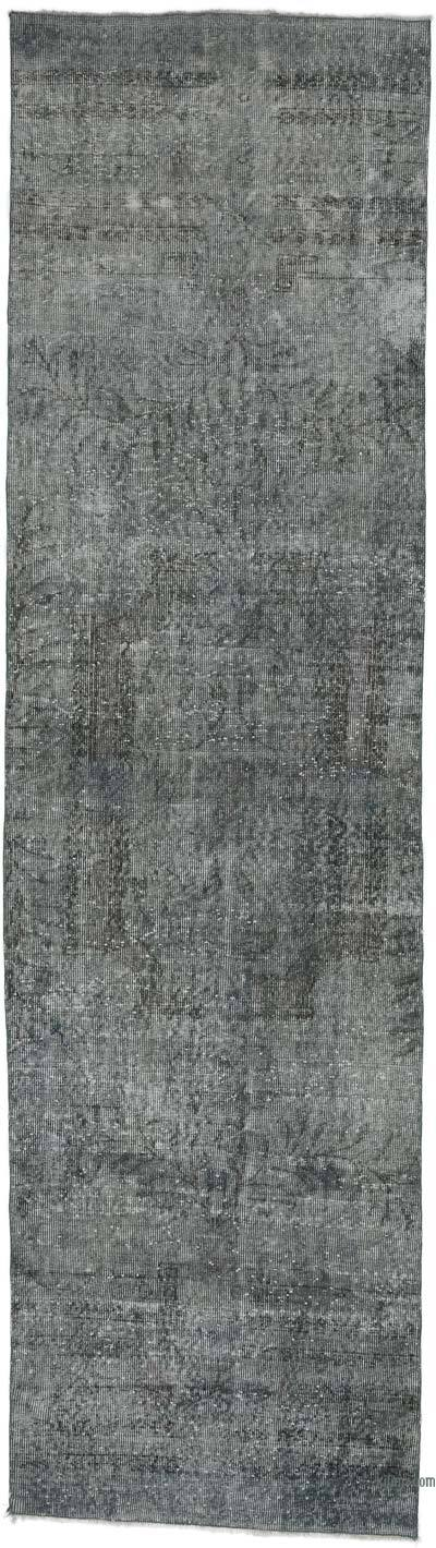 "Over-dyed Turkish Vintage Runner Rug - 2' 11"" x 10' 10"" (35 in. x 130 in.)"