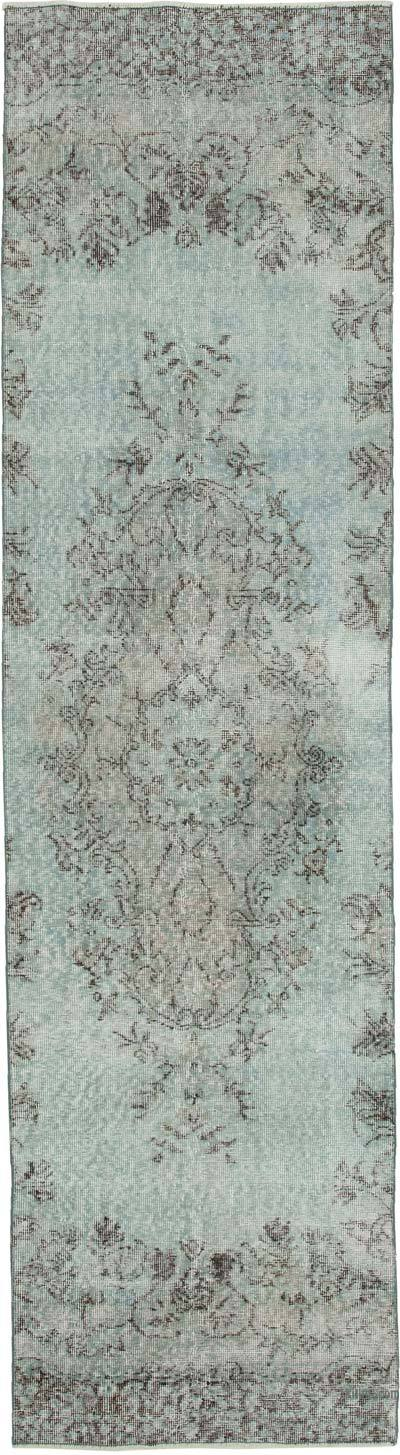 "Blue Over-dyed Turkish Vintage Runner Rug - 2' 8"" x 9' 11"" (32 in. x 119 in.)"