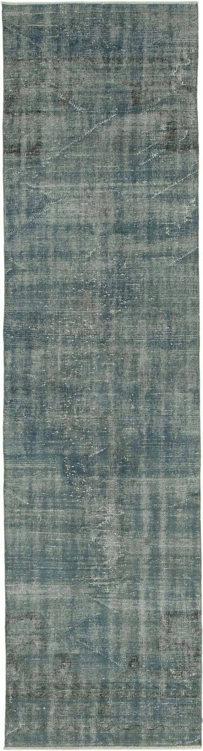 "Over-dyed Turkish Vintage Runner Rug - 2' 9"" x 10' 8"" (33 in. x 128 in.)"