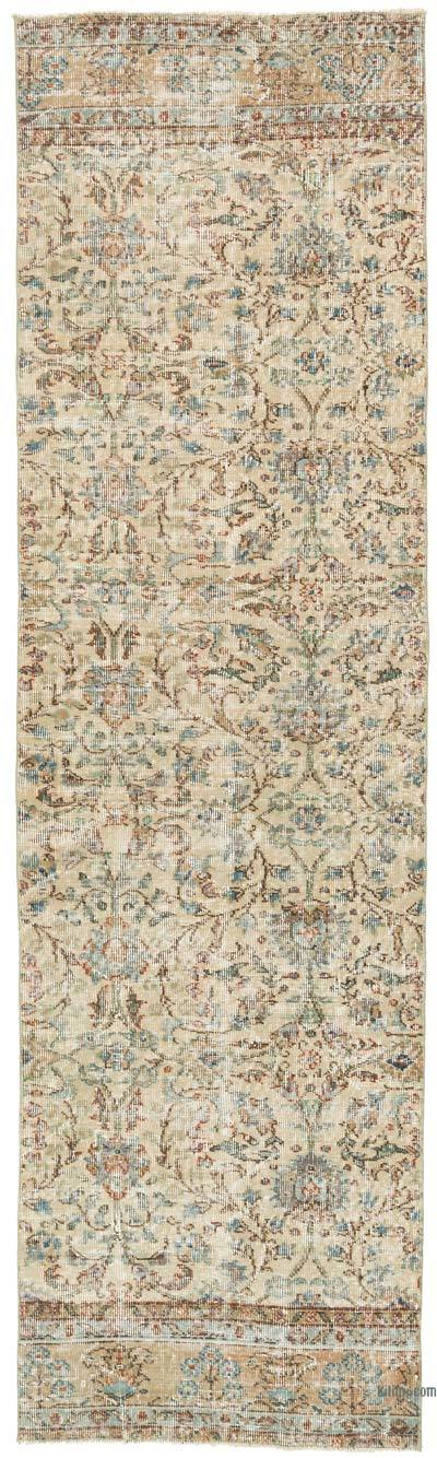 "Vintage Turkish Runner Rug - 2' 10"" x 9' 11"" (34 in. x 119 in.)"