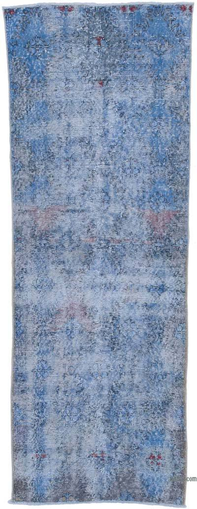 "Over-dyed Turkish Vintage Runner Rug - 2' 7"" x 7' 1"" (31 in. x 85 in.)"