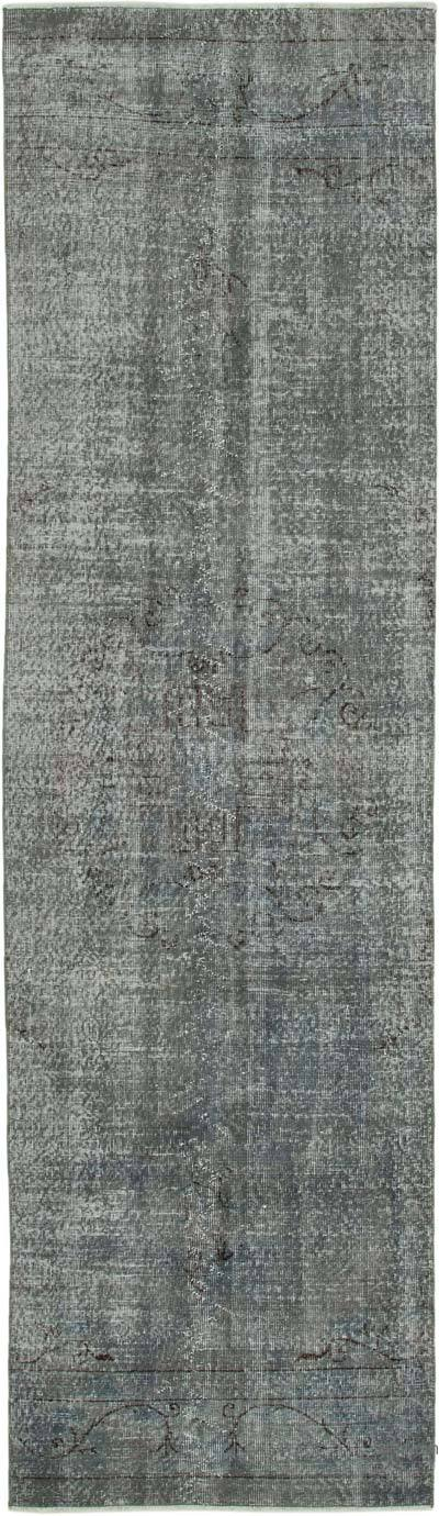 "Over-dyed Turkish Vintage Runner Rug - 2' 11"" x 10' 3"" (35 in. x 123 in.)"