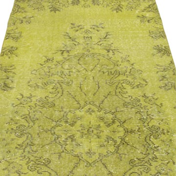 """Over-dyed Turkish Vintage Runner Rug - 2' 11"""" x 9' 9"""" (35 in. x 117 in.) - K0050078"""