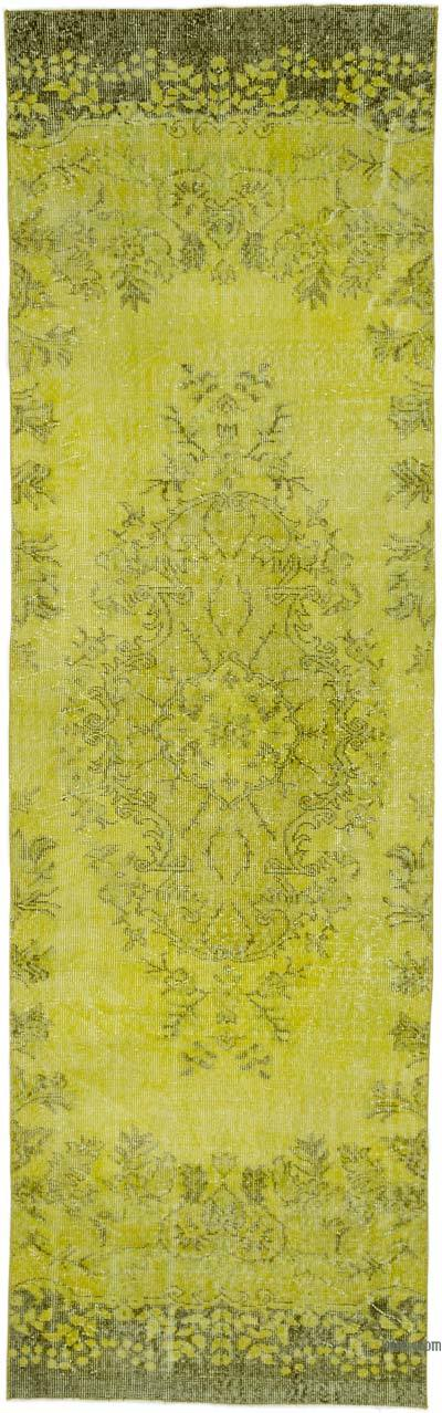 """Over-dyed Turkish Vintage Runner Rug - 2' 11"""" x 9' 9"""" (35 in. x 117 in.)"""