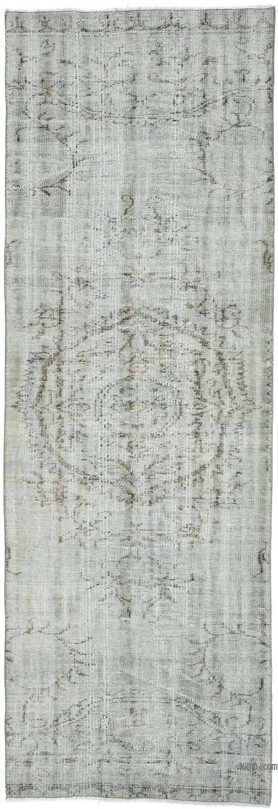 "Over-dyed Turkish Vintage Runner Rug - 2' 11"" x 8' 8"" (35 in. x 104 in.)"