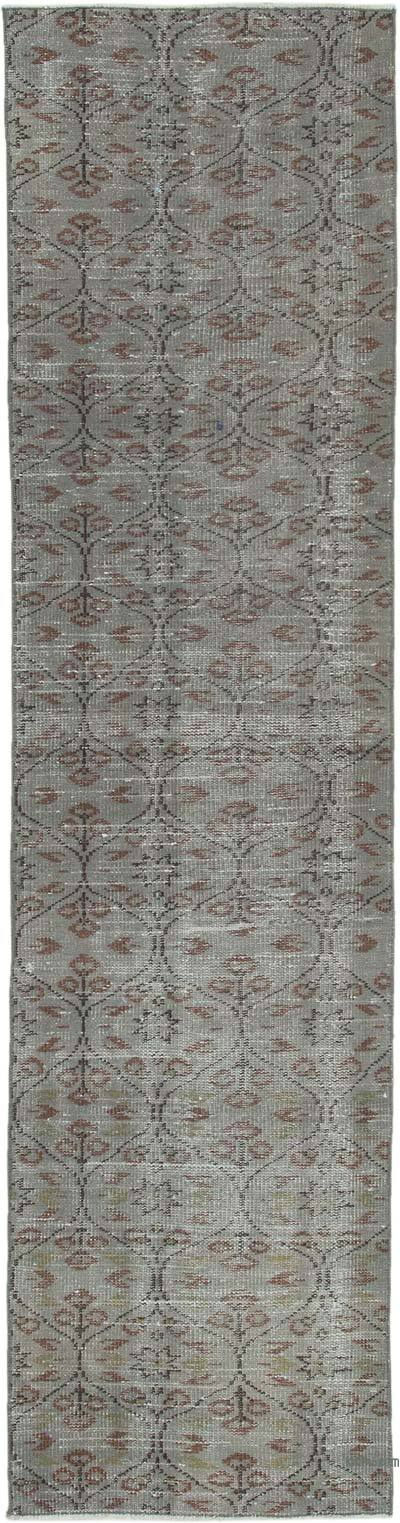 "Over-dyed Turkish Vintage Runner Rug - 2' 4"" x 8' 10"" (28 in. x 106 in.)"