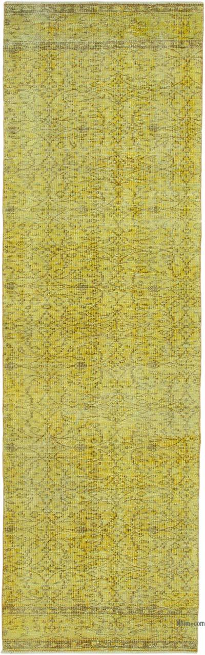 """Over-dyed Turkish Vintage Runner Rug - 2' 10"""" x 9' 3"""" (34 in. x 111 in.)"""