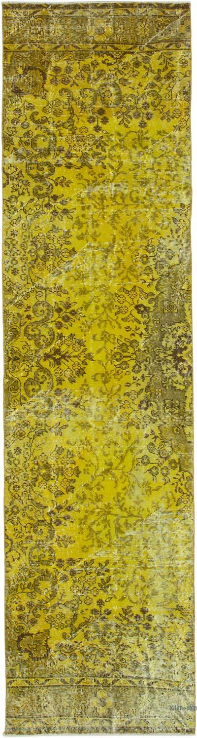 """Over-dyed Turkish Vintage Runner Rug - 2' 8"""" x 10' 4"""" (32 in. x 124 in.)"""