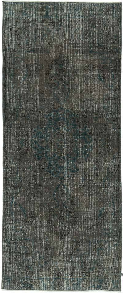 "Over-dyed Turkish Vintage Runner Rug - 2' 9"" x 6' 7"" (33 in. x 79 in.)"
