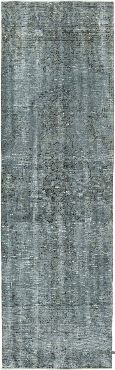 "Over-dyed Turkish Vintage Runner Rug - 2' 7"" x 8' 8"" (31 in. x 104 in.)"