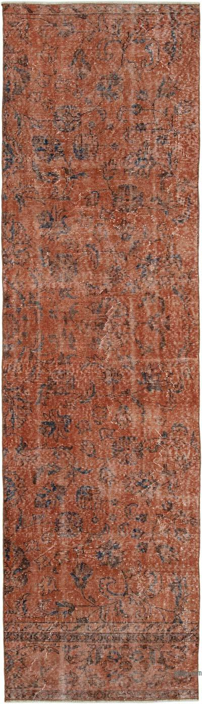 """Over-dyed Turkish Vintage Runner Rug - 2' 10"""" x 10'  (34 in. x 120 in.)"""