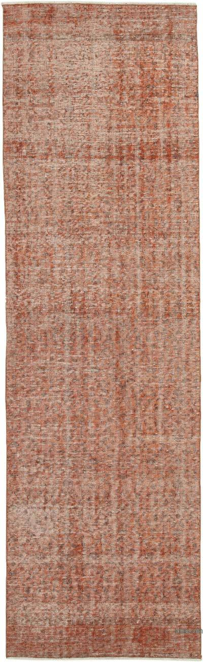 "Over-dyed Turkish Vintage Runner Rug - 2' 10"" x 9' 4"" (34 in. x 112 in.)"