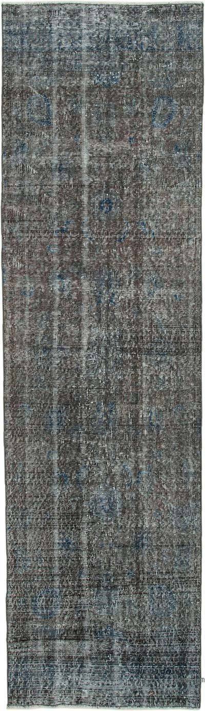 "Over-dyed Turkish Vintage Runner Rug - 2' 7"" x 9' 5"" (31 in. x 113 in.)"