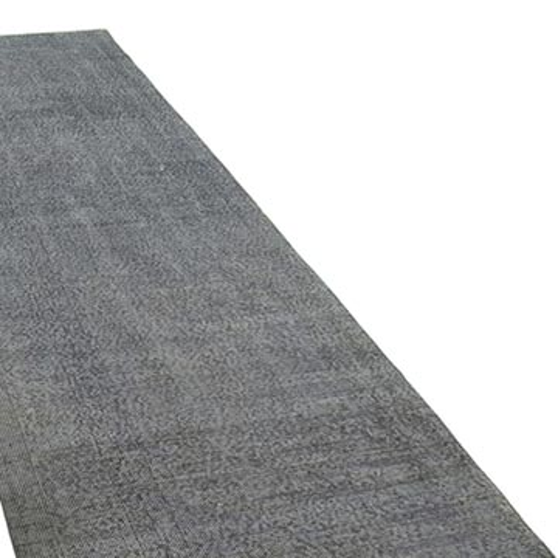 "Grey Over-dyed Turkish Vintage Runner Rug - 3' 3"" x 12'  (39 in. x 144 in.) - K0050118"
