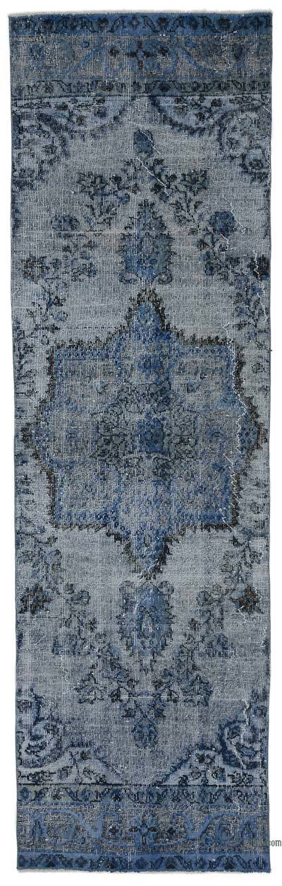 "Over-dyed Turkish Vintage Runner Rug - 2' 9"" x 9' 2"" (33 in. x 110 in.)"