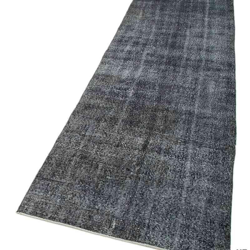 "Grey Over-dyed Turkish Vintage Runner Rug - 2' 11"" x 10' 5"" (35 in. x 125 in.) - K0050137"
