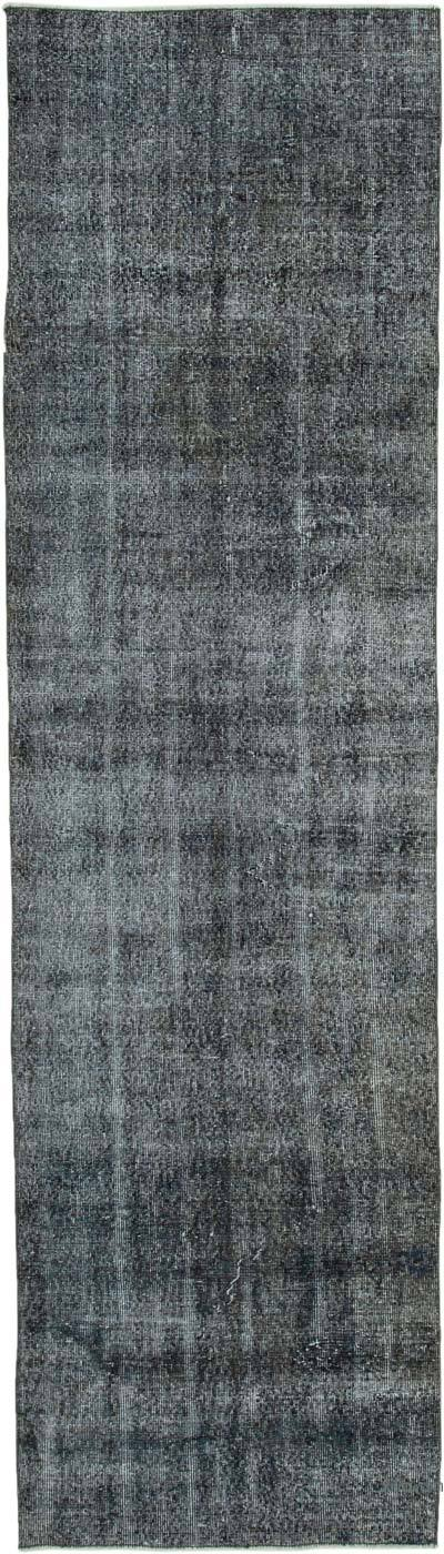 """Over-dyed Turkish Vintage Runner Rug - 2' 11"""" x 10' 5"""" (35 in. x 125 in.)"""