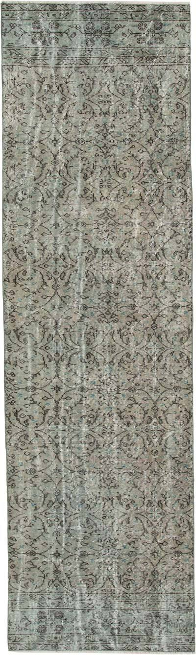 "Over-dyed Turkish Vintage Runner Rug - 2' 8"" x 9' 2"" (32 in. x 110 in.)"