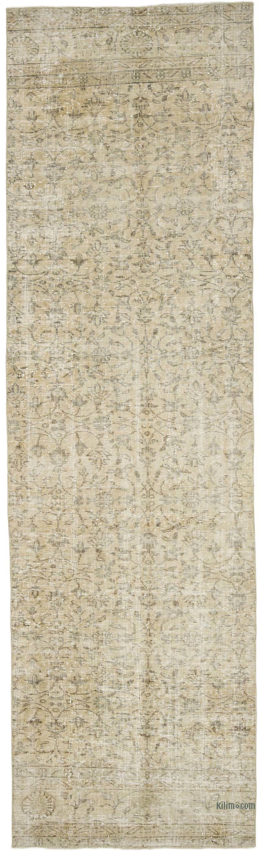 "Vintage Turkish Runner Rug - 3'  x 10' 2"" (36 in. x 122 in.) - K0050154"