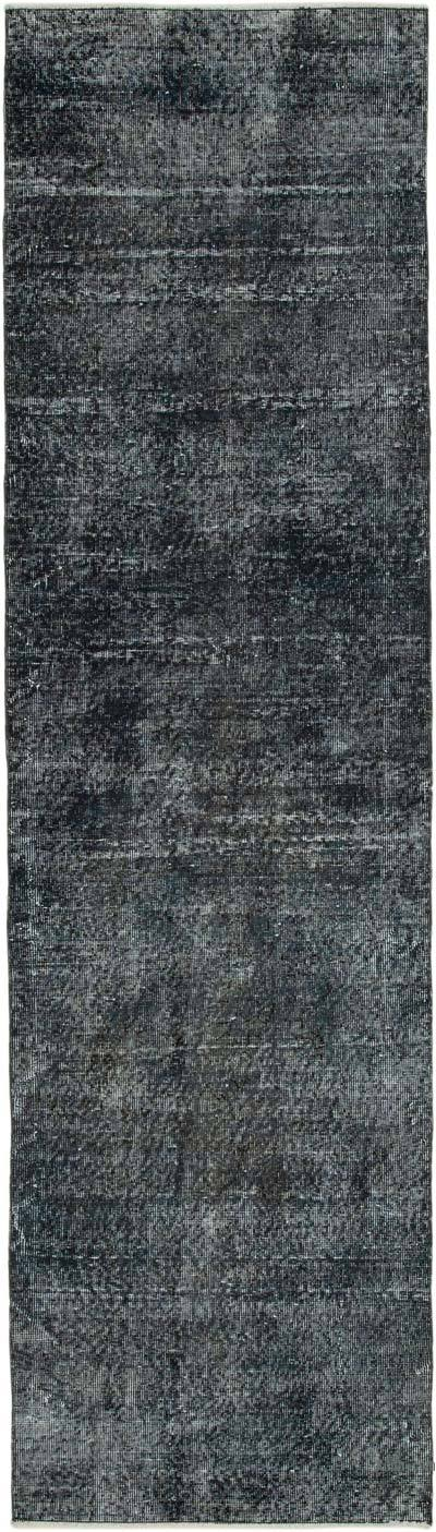 """Grey Over-dyed Turkish Vintage Runner Rug - 2' 7"""" x 9' 5"""" (31 in. x 113 in.)"""