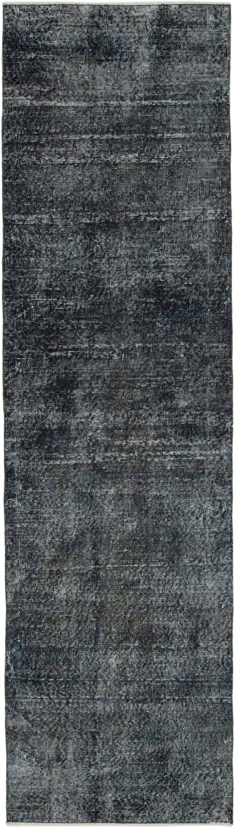 "Grey Over-dyed Turkish Vintage Runner Rug - 2' 7"" x 9' 5"" (31 in. x 113 in.) - K0050156"