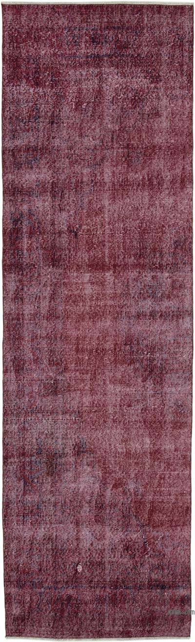 """Over-dyed Turkish Vintage Runner Rug - 2' 11"""" x 10'  (35 in. x 120 in.)"""