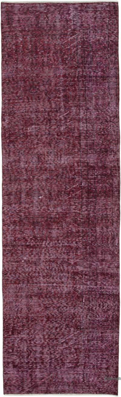 Over-dyed Turkish Vintage Runner Rug - 3'  x 10'  (36 in. x 120 in.)