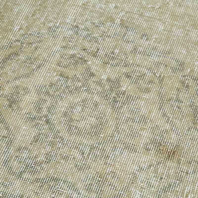 "Beige Over-dyed Turkish Vintage Runner Rug - 2' 7"" x 9' 4"" (31 in. x 112 in.) - K0050167"
