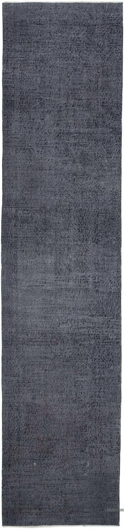 Over-dyed Turkish Vintage Runner Rug - 3'  x 13'  (36 in. x 156 in.)