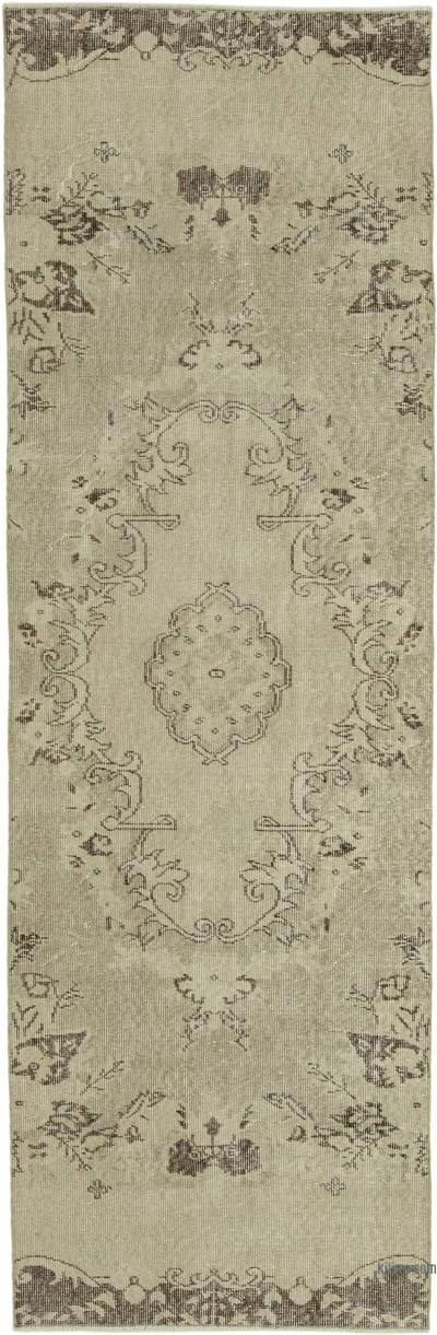 "Over-dyed Turkish Vintage Runner Rug - 3' 1"" x 9' 2"" (37 in. x 110 in.)"