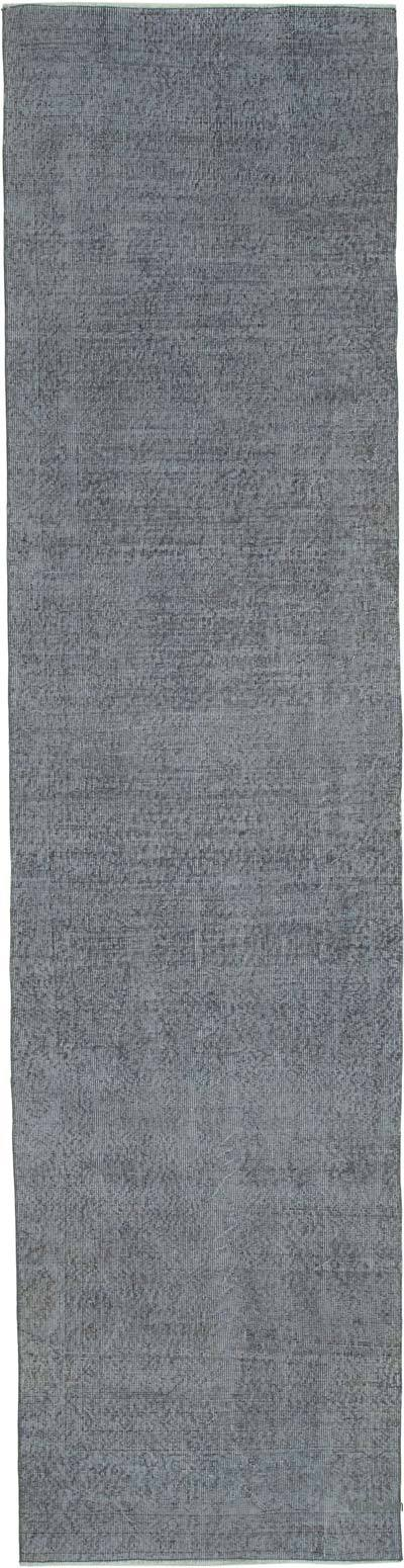 Over-dyed Turkish Vintage Runner Rug - 3'  x 12'  (36 in. x 144 in.)