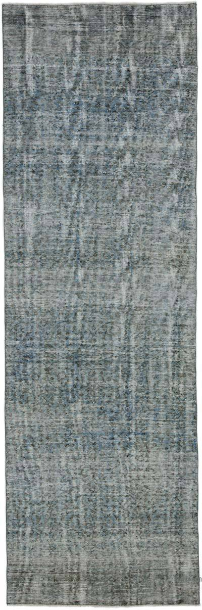 "Over-dyed Turkish Vintage Runner Rug - 3' 5"" x 10' 4"" (41 in. x 124 in.)"