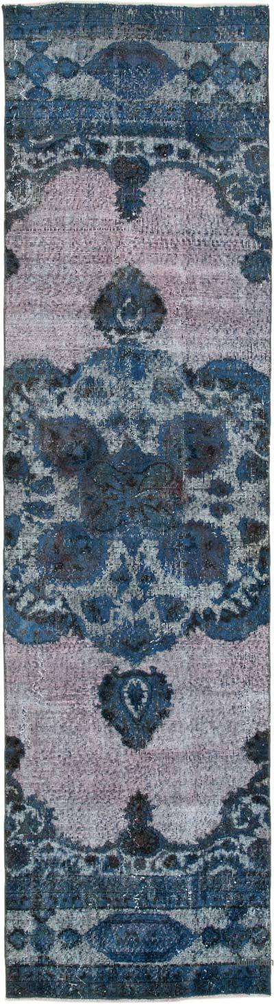 "Over-dyed Turkish Vintage Runner Rug - 2' 10"" x 10' 6"" (34 in. x 126 in.)"