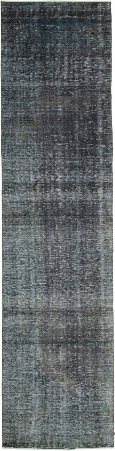 """Over-dyed Turkish Vintage Runner Rug - 2' 7"""" x 10' 5"""" (31 in. x 125 in.)"""