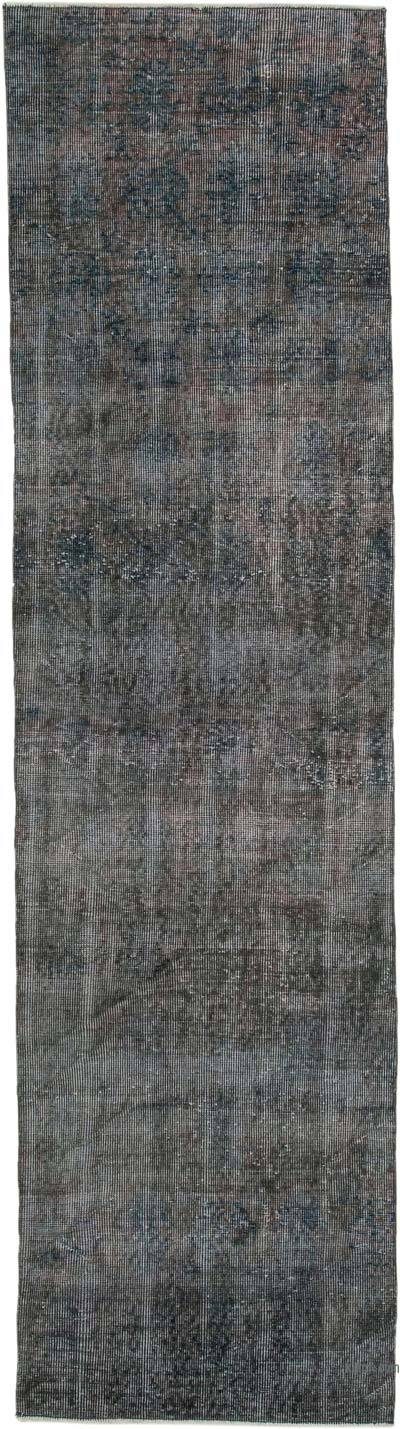 "Over-dyed Turkish Vintage Runner Rug - 2' 8"" x 9' 10"" (32 in. x 118 in.)"