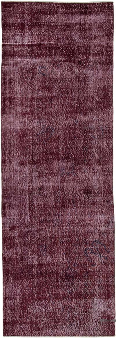 "Over-dyed Turkish Vintage Runner Rug - 2' 11"" x 8' 10"" (35 in. x 106 in.)"