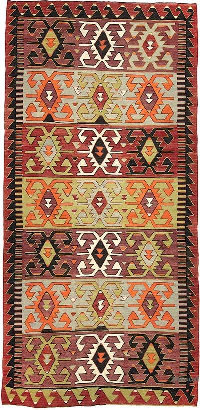 """Vintage Konya Kilim Rug - 5' 7"""" x 11' 8"""" (67 in. x 140 in.)"""