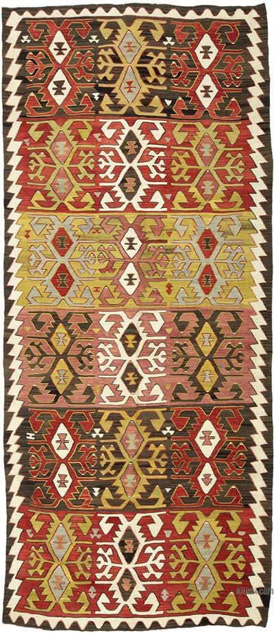 """Vintage Konya Kilim Rug - 4'  x 9' 5"""" (48 in. x 113 in.)"""