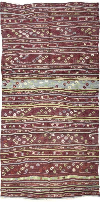 """Vintage Antalya Kilim Rug - 4' 9"""" x 8' 10"""" (57 in. x 106 in.)"""