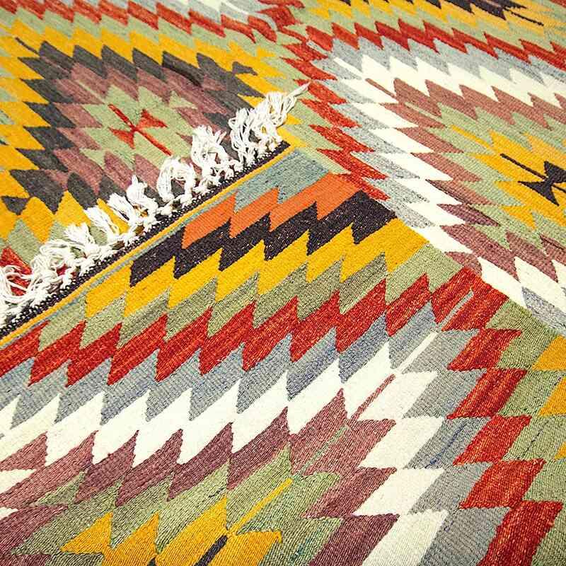 Çok Renkli Afyon Kilimi - 190 cm x 300 cm - K0050277