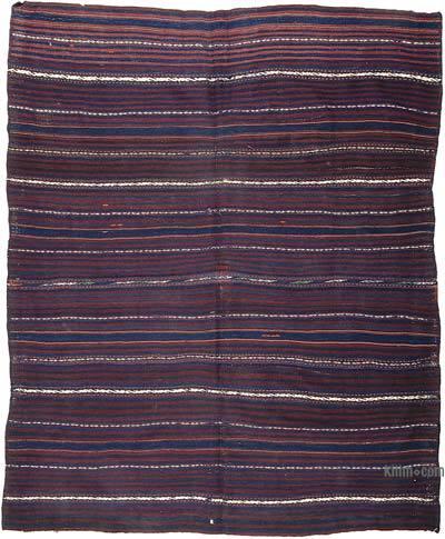 """Vintage Balikesir Kilim Rug - 4' 11"""" x 6' 3"""" (59 in. x 75 in.)"""